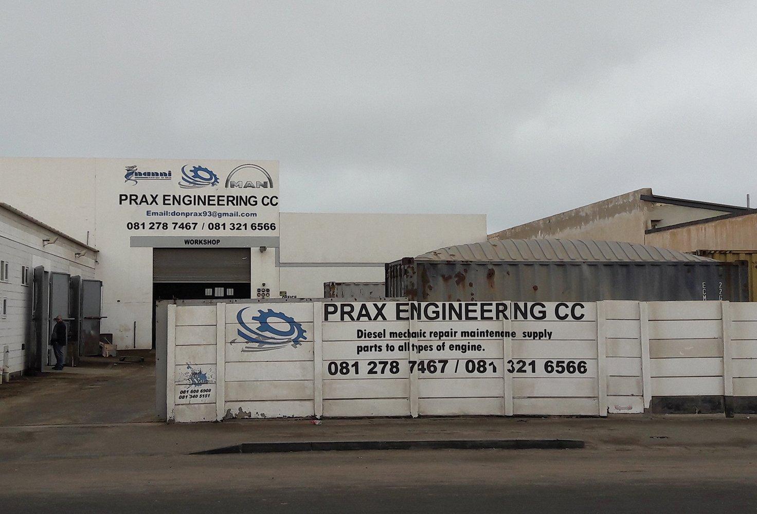 Prax Engineering Workshop Walvis Bay, Namibia