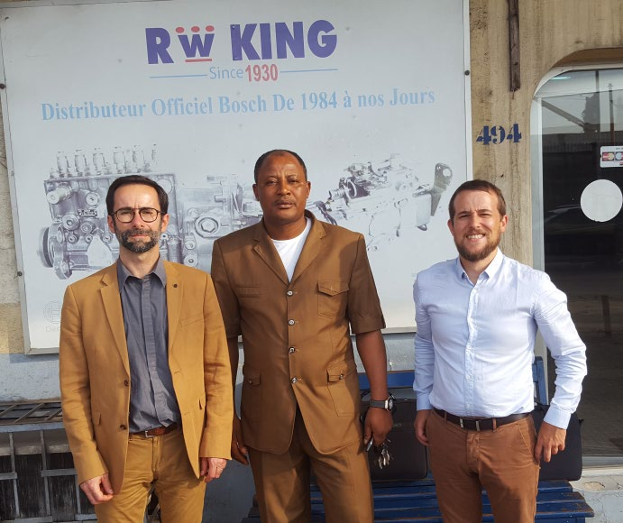 Visit RW King by Christophe Guilbert (MTEEF – Product Manager – Mitsubishi Generator Sets), Bernard Tiobou (RW King – Sales Manager) and Jérôme Taugourdeau (MTEEF – Sales Engineer)